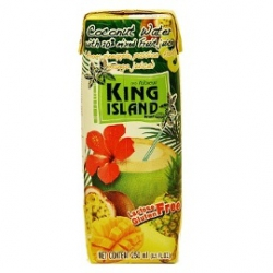 Кокосовая вода с соком ананаса, маракуйи, манго KING ISLAND, 250 мл