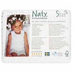 Подгузники-трусики размер 5 (12-18 кг), Naty