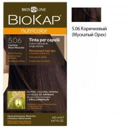 Краска для волос Коричневый (Мускатый Орех) 5.06 BioKap, 140 мл