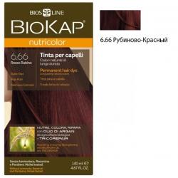 * Краска для волос Рубиново-Красный 6.66 BioKap, 140 мл
