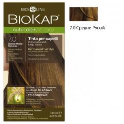Краска для волос Средне-Русый 7.0 BioKap, 140 мл