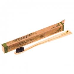 Зубная щетка из натурального бамбука с угольным напылением (взрослая)