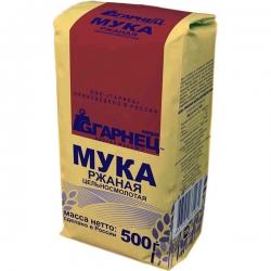 Мука ржаная цельносмолотая Гарнец, 500 гр