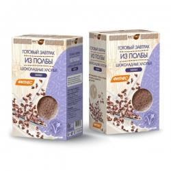 Готовый завтрак из полбы - шоколадные мини хлопья, 200 гр