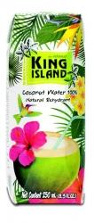 100% Кокосовая вода без сахара KING ISLAND, 250 мл