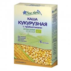Каша кукурузная безмолочная с пребиотиками Fleur Alpine ORGANIC, 175 гр
