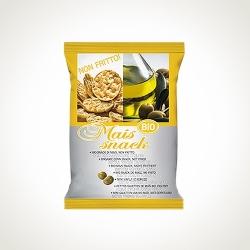 Кукурузные снеки с оливковым маслом экстраверджине BIOALIMENTI, 50 гр
