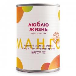 Пюре манго натуральное, без сахара, 450 г