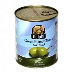 Оливки Colossal без косточек  в рассоле 121/140, 820 гр