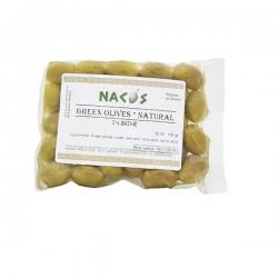 """Оливки зеленые в рассоле, цельные, """"Накос"""", 200 гр пласт упаковке"""