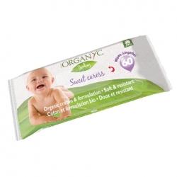 Детские влажные салфетки из органического хлопка, Organyc, 60 шт