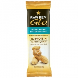 Батончик Raw Rev Glo Creamy Peanut Butter & Sea Salt, 46 гр, купить