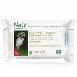 Влажные салфетки без запаха Naty, 56 шт