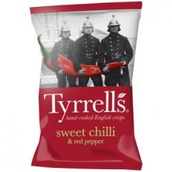 Картофельные чипсы со сладким перцем чили и красным перцем Tyrrells, 40 гр