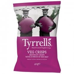 """Овощные чипсы с морской солью """"Свекла"""" Tyrrells, 40 гр"""